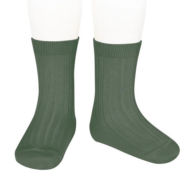CONDOR - Korte Sokken - Lichen green (761)