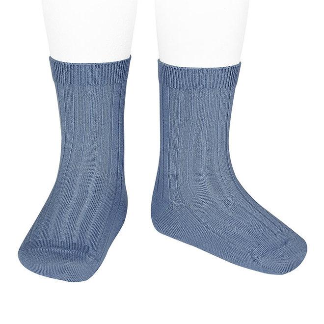CONDOR - Korte Sokken - French Blue (449)