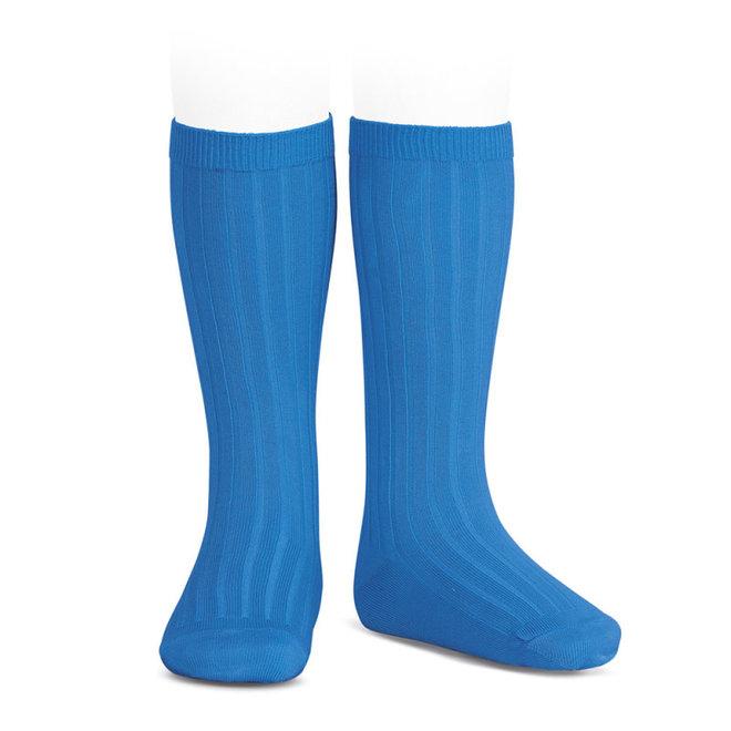 CONDOR - Kniesokken - Electric Blue (447)