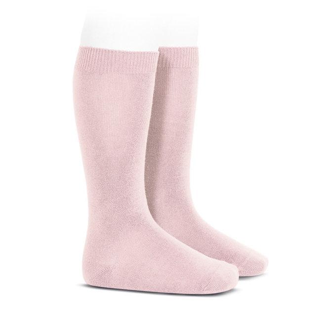 CONDOR - Kniesokken Effen - Baby Pink (500)