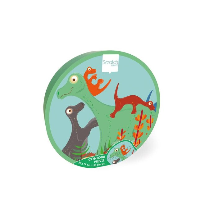SCRATCH - Puzzel - Dino (30stuks) 3+