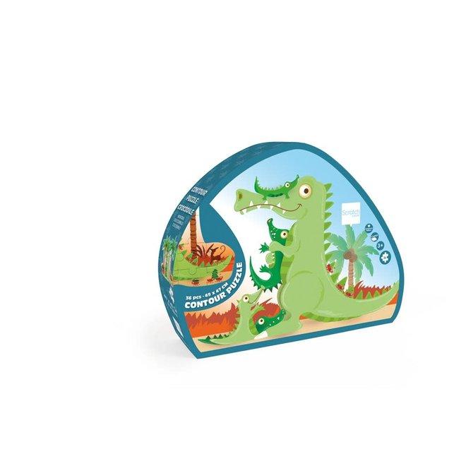 SCRATCH - Puzzel - Krokodil (36stuks) 3+