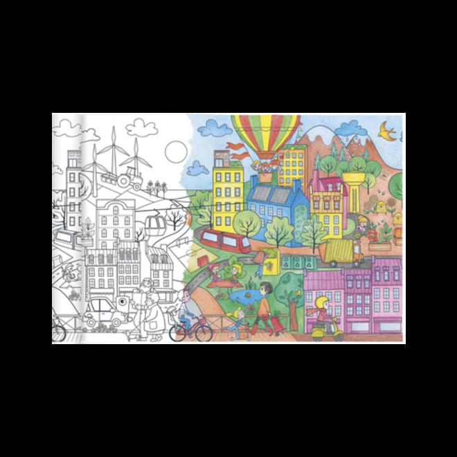 AVENUE MANDARINE - Kleurplaat - Ecologische Stad (5meter)