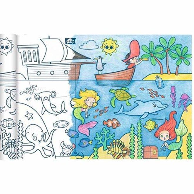 AVENUE MANDARINE - Kleurplaat - Piraten&Zeemeerminnen (5meter)