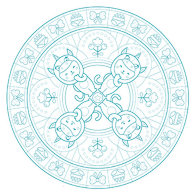 AVENUE MANDARINE - Kleurboek - Graffy Pop Mandala (6+)