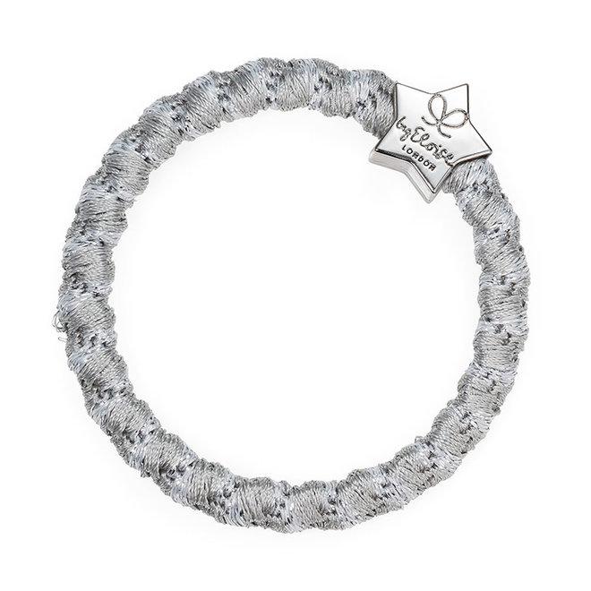 BY ELOISE - Haarelastiek - Woven Silver Star Shimmer