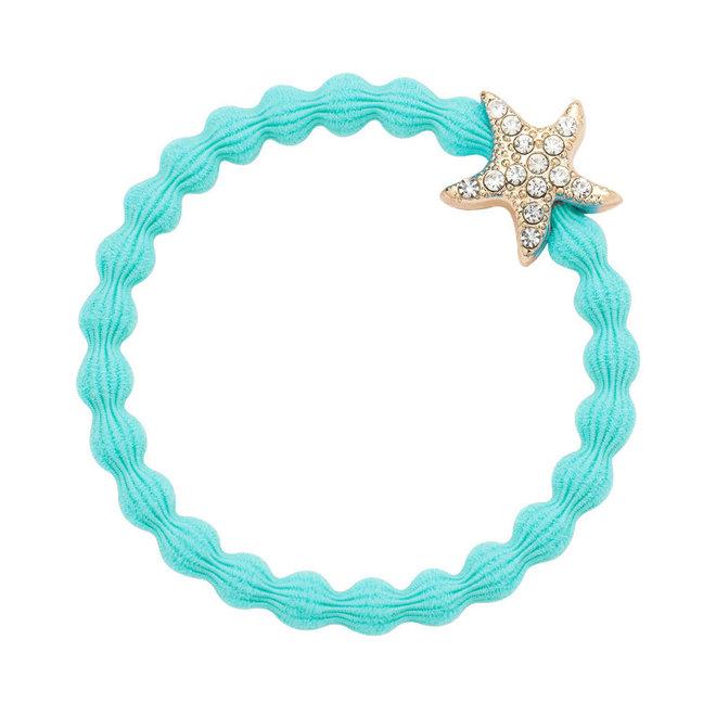 BY ELOISE - Haarelastiek - Starfish Turquoise