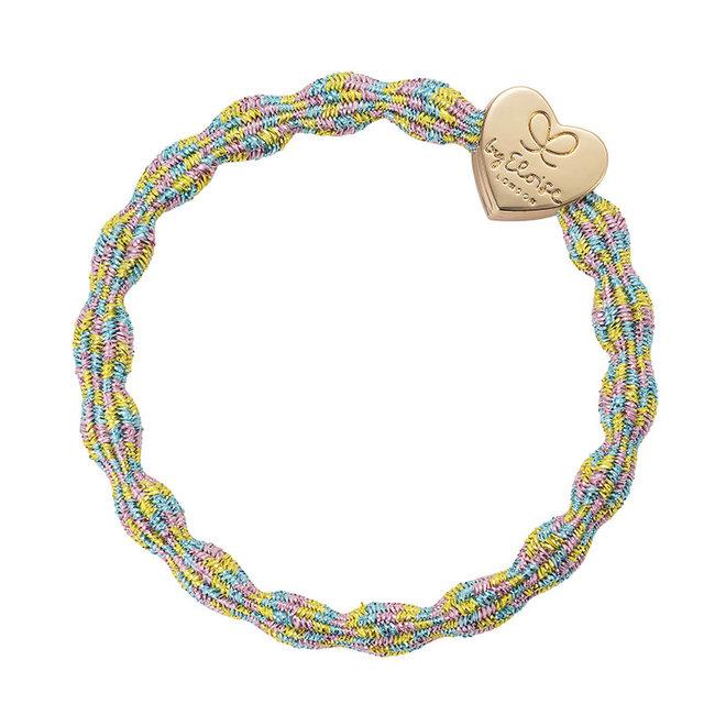 BY ELOISE - Haarelastiek - Metallic Gold Heart Candy
