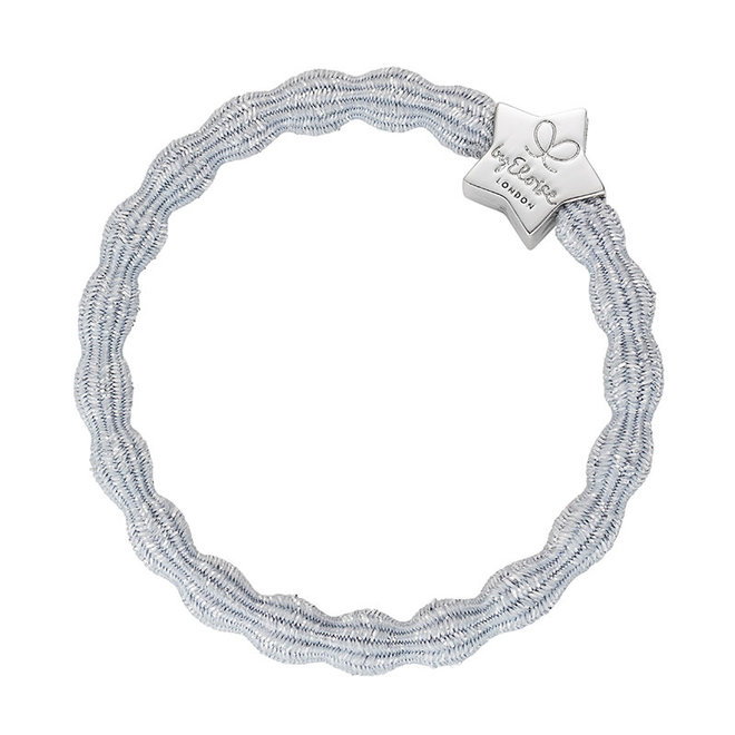 BY ELOISE - Haarelastiek - Metallic Silver Star Silver