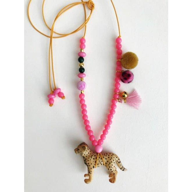 ByMelo - Dierenketting - Luipaard Roos