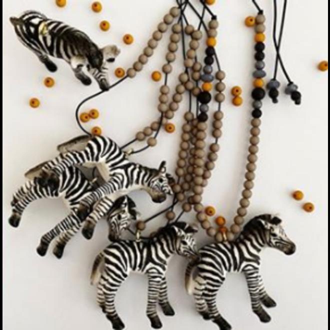 ByMelo - Dierenketting  - Zebra Grijs