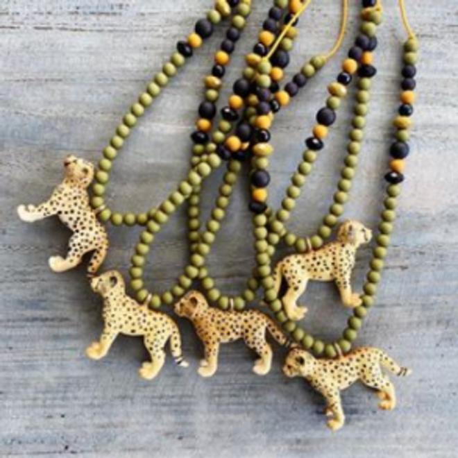BYMELO - Dierenketting - Luipaard Groen