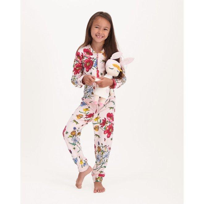 CLAESEN'S - Pyjama Onesie - Bees Pink (Maat 104 tem 128)