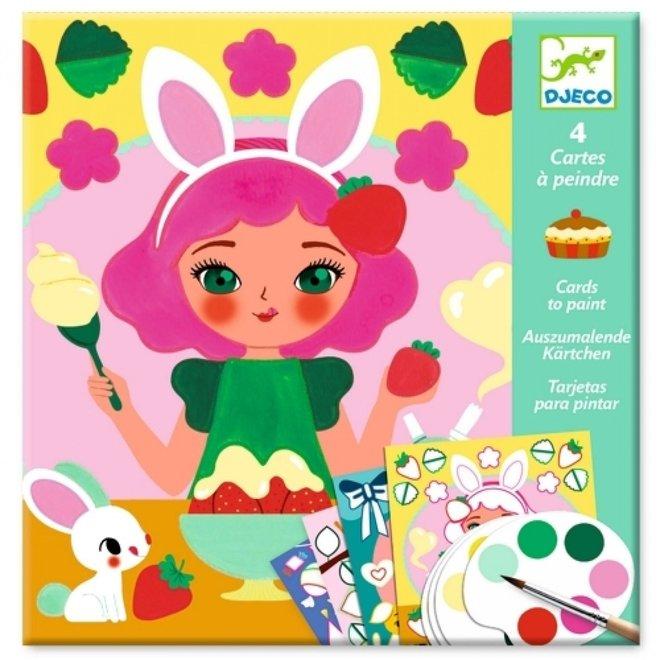 DJECO - Creatief met Verf - Kleurplaten Snacktime