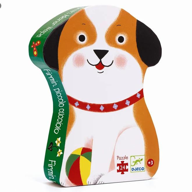 DJECO - Puzzel - Firmin, De kleine Hond (24stuks) 3+