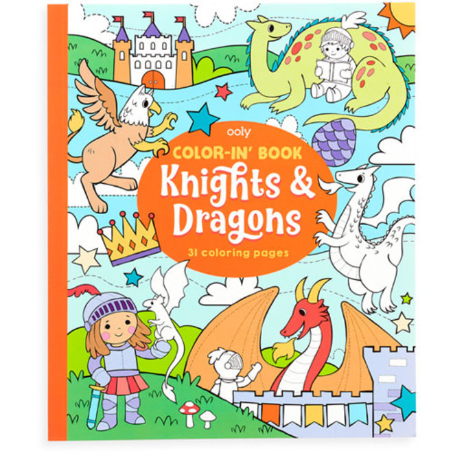 OOLY - Kleurboeken - Draken&Prinsessen