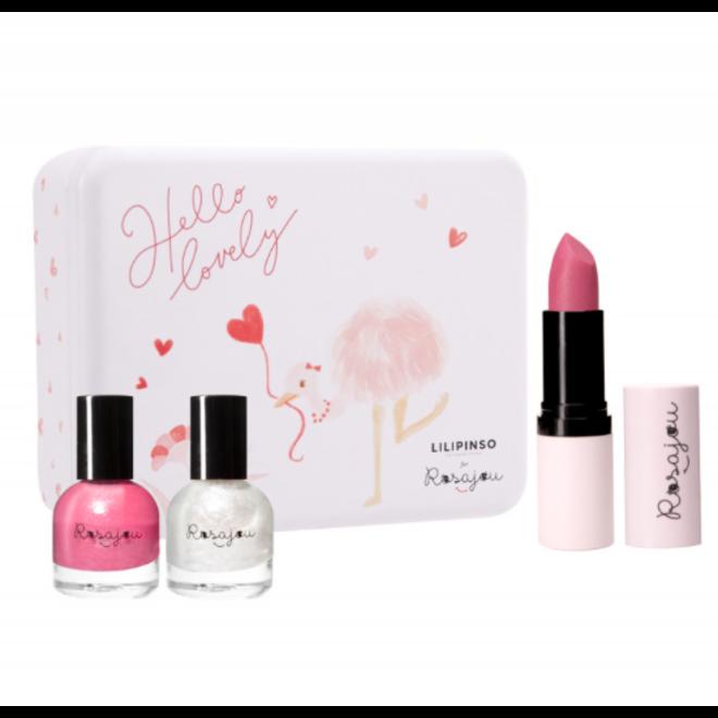 ROSAJOU - Gift Set  - Hello Lovely ( Lippenbalsem+2 Nagellak)
