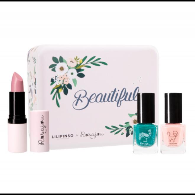 ROSAJOU - Gift Set  - Beautiful ( Lippenbalsem+2 Nagellak)