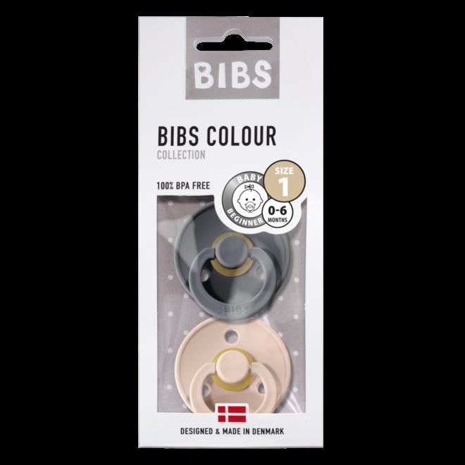 BIBS - DUO PACK - Iron /Blush (Taille 1 tem 3)