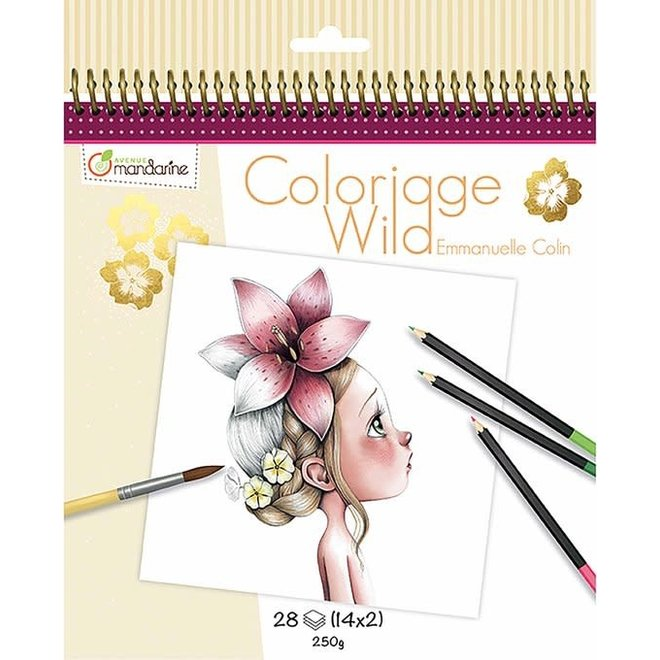 AVENUE MANDARINE - Kleurboek - Wild  ( Illustratie Emmanuelle Colin)