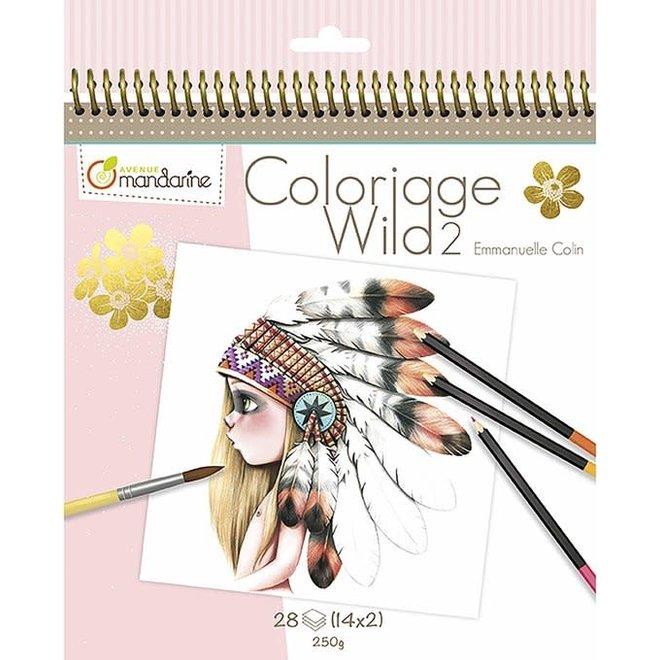 AVENUE MANDARINE - Kleurboek - Wild 2 ( Illustratie Emmanuelle Colin)