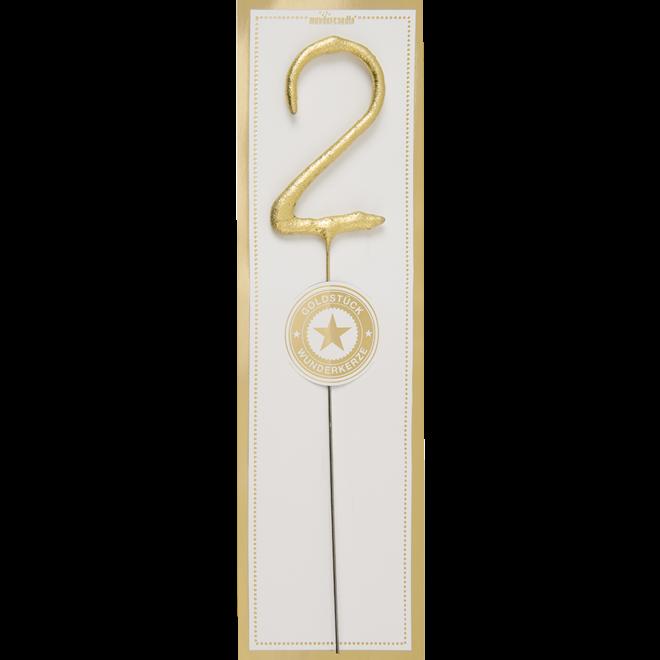 WONDERCANDLE - Cijfer 2 (10cm)
