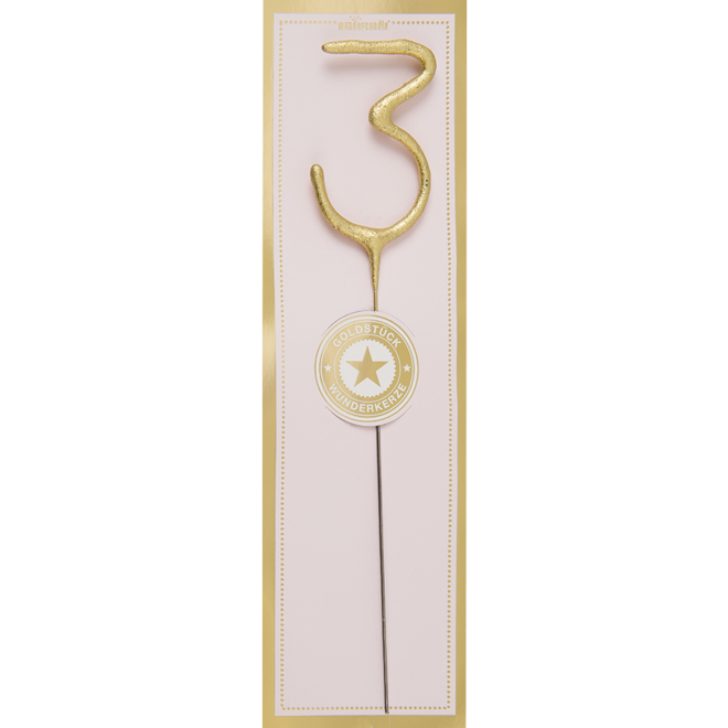 WONDERCANDLE - Cijfer 3 (10cm)