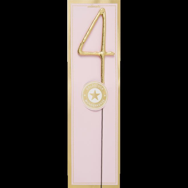 WONDERCANDLE - Cijfer 4 (10cm)