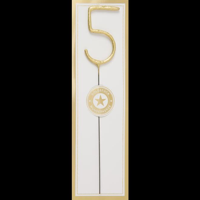 WONDERCANDLE - Cijfer 5 (10cm)