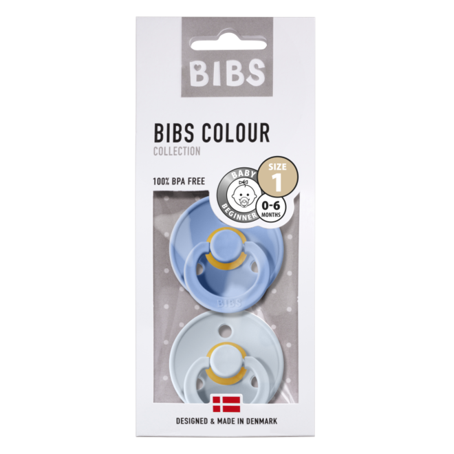 BIBS - DUO PACK - Sky Blue/Baby Blue (Taille 1 tem 3)