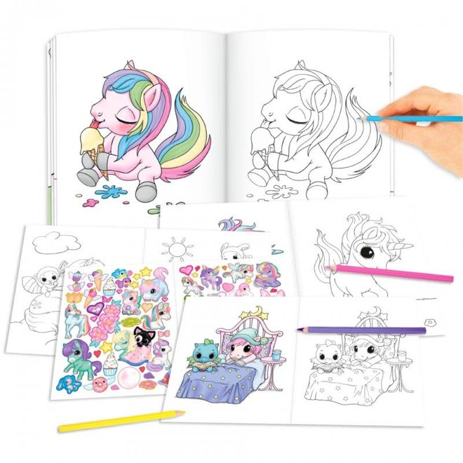DEPESCHE - Stickerboek - Ylvi & The Minimoomis Unicorn 5+