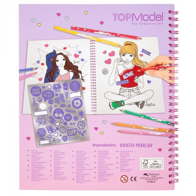 DEPESCHE - Kleurboek - Topmodel met Pailletten 6+