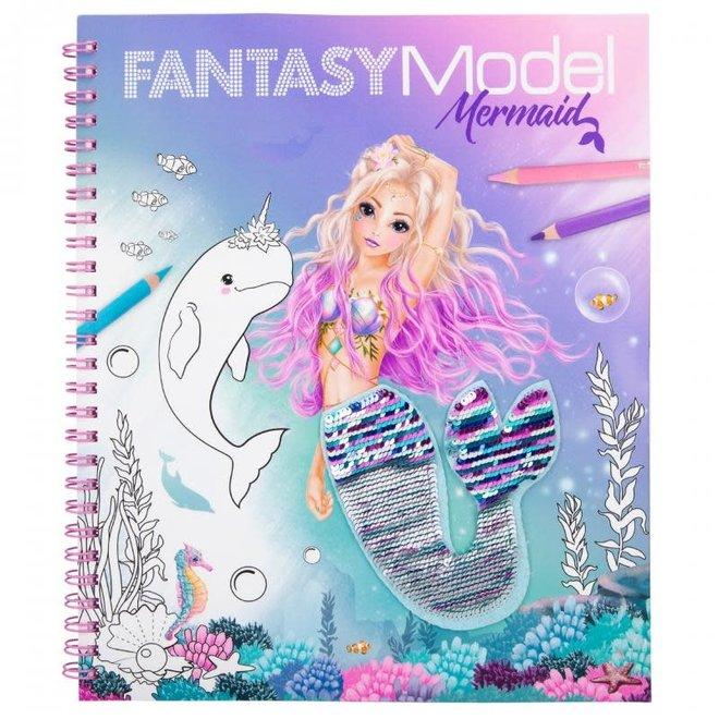 DEPESCHE - Kleurboek - Fantasy met Pailletten 6+