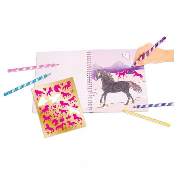 DEPESCHE - Kleurboek - Miss Melody met Pailletten 5+