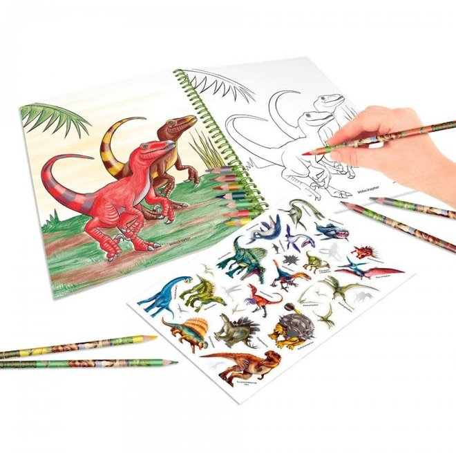DEPESCHE - Kleurboek - Dino World 5+