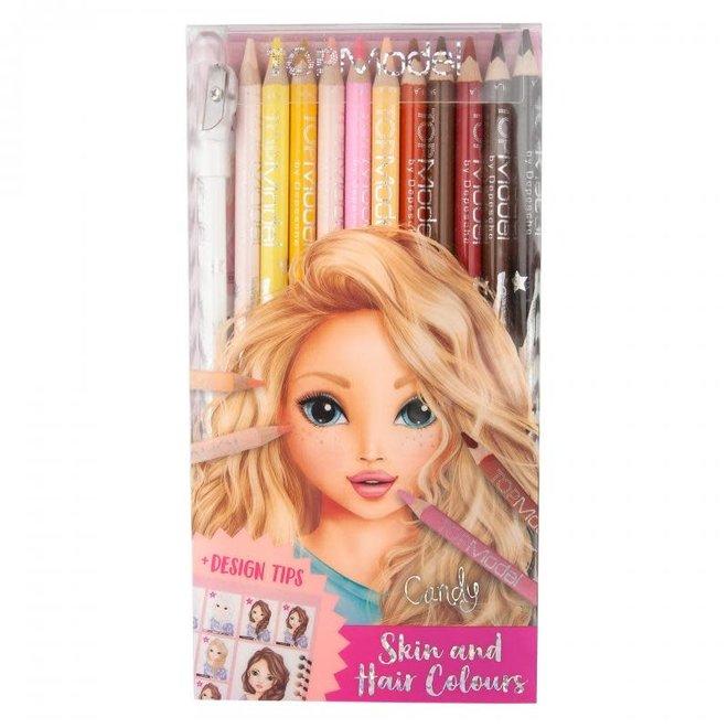 DEPESCHE - Kleurpotloden - Top Model  huid- & haarkleuren set