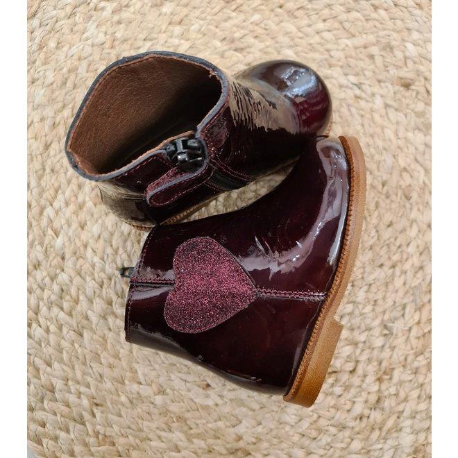 CLARYS - Albany Burdeos/Glitter Heart (Maat 19 tem 23)