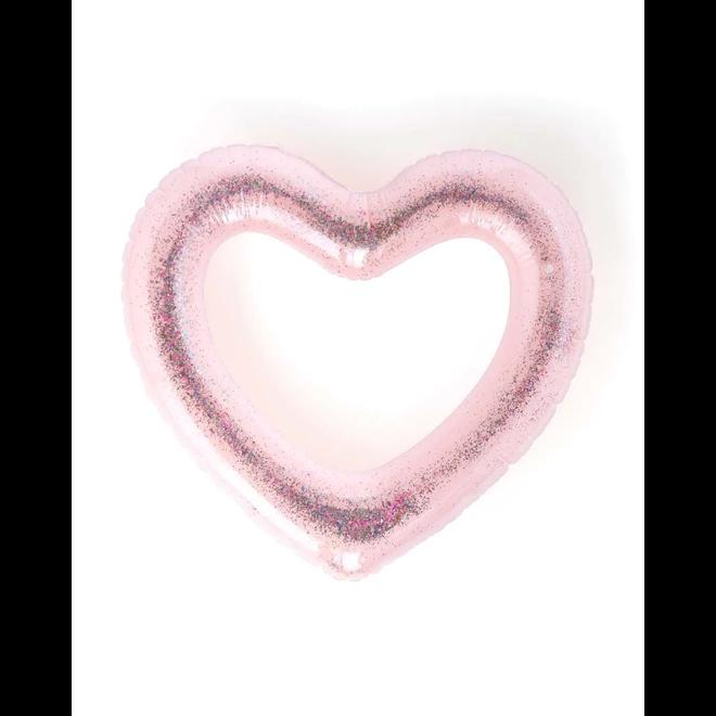BAN.DO - Zwemband XXL - Heart Glitterbomb