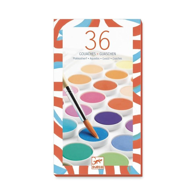 DJECO - Creatief met Verf - 36 basis kleuren