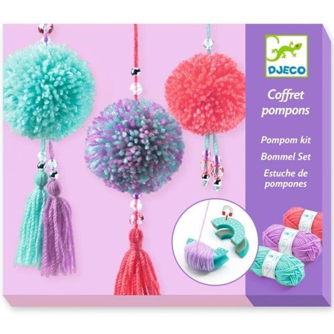 DJECO - Creatief met Wol - Pompom Hangers 7+