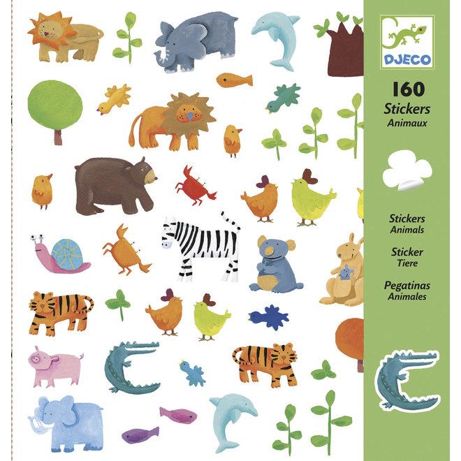 DJECO - 160 Stickers - Dieren