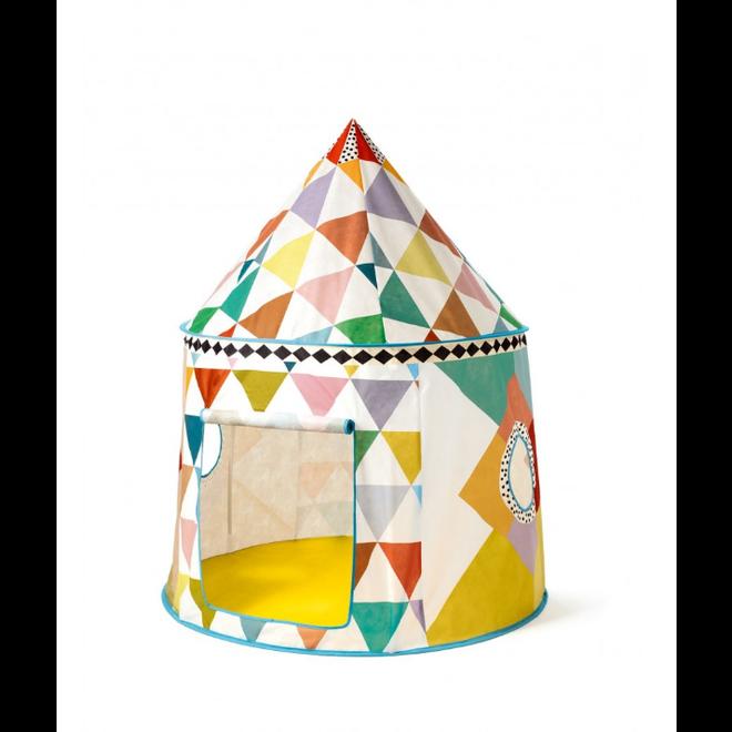 DJECO - Speeltent Multicolor (ø 106cm - Hoogte 130cm)