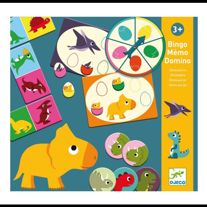 DJECO - Gezelschapsspel - Memo, Loto&Domino 3+