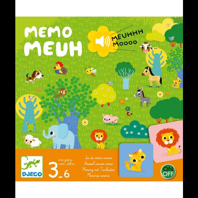 DJECO - Gezelschapsspel - Memo Meuuuh 5+