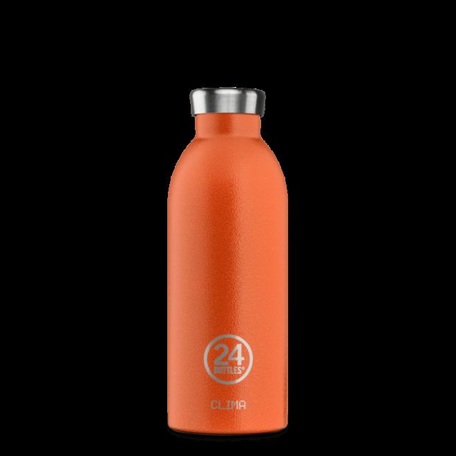 24°BOTTLES - Clima Bottle -  Sunset Orange 500ml