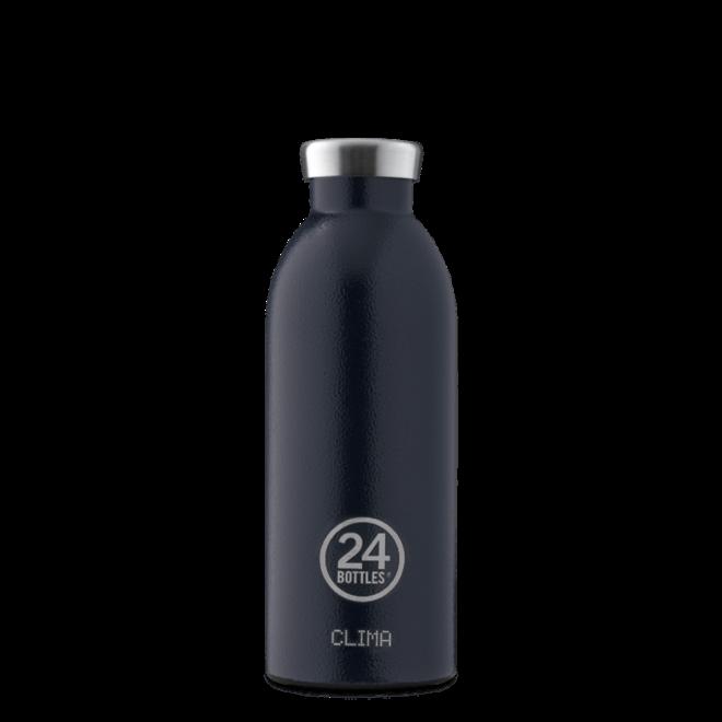24°BOTTLES - Clima Bottle -  Rustic Deep Blue 500ml