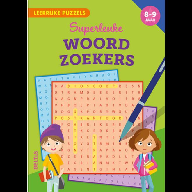 DELTAS - Leerboeken - Superleuke Woordzoekers ( 8-9jaar)