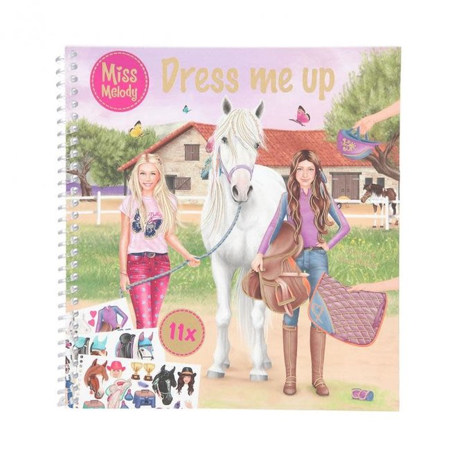 DEPESCHE - Stickerboek - Miss Melody Dress Me Up 5+