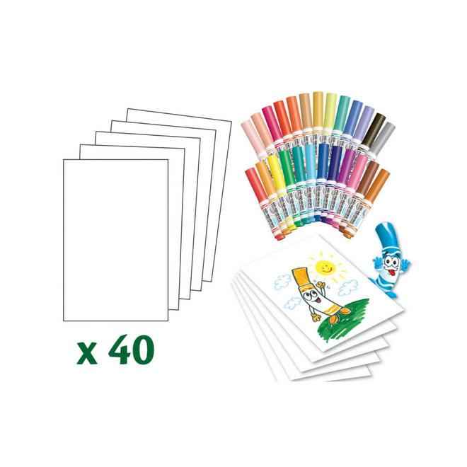 CRAYOLA - Viltstiften -  Kleurkoffer Pips