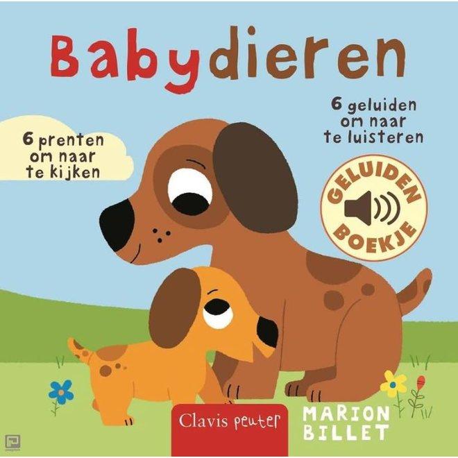 CLAVIS - Geluidenboek -  Babydieren +12m